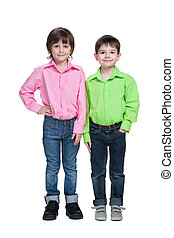 Two handsome fashion young boys