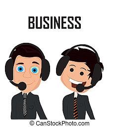 two happy businessmen