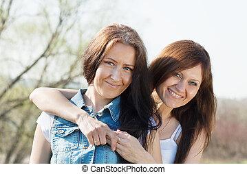 Two happy women