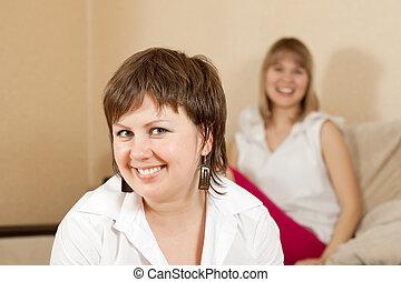 happy young women