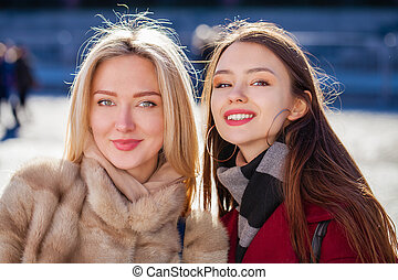 Two happy young women