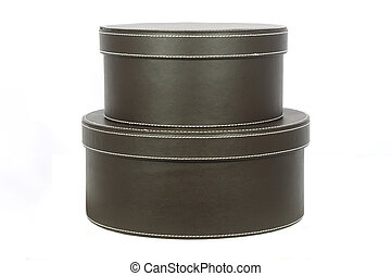 Two hat boxes