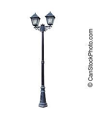 Two headed street lamp. - Two headed street lamp isolated on...