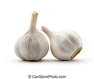 Two heads of garlic