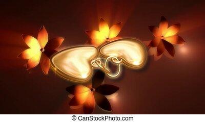 Two heart pendants