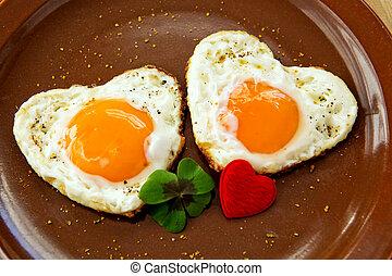 Valentine's Day breakfast.
