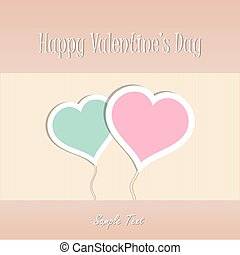 Two Heart shapes vector background. Valentines day