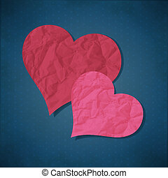 Two hearts from paper