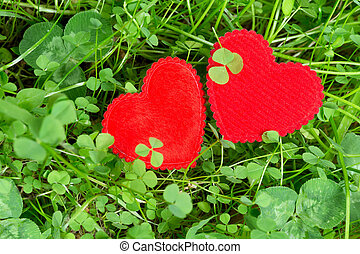 Two hearts in a meadow