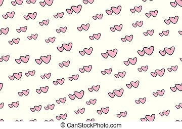 Two hearts together- seamless pattern