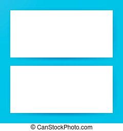 Two Horizontal Blank Banners Mockup