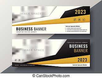 two horizontal business web banners with space for text and image