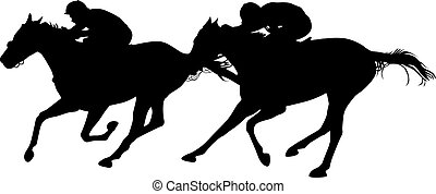 two horses in the finish of a horse race