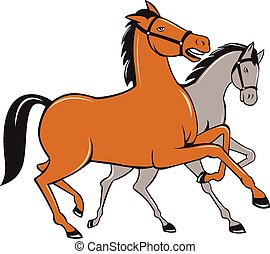 two horses illustrations and clipart 788 two horses royalty free rh canstockphoto com horse clip art free horse clipart images