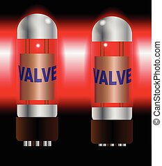 Two Hot Amplifier Valves