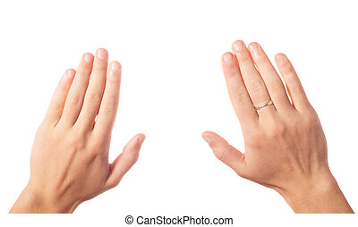 Two human hands