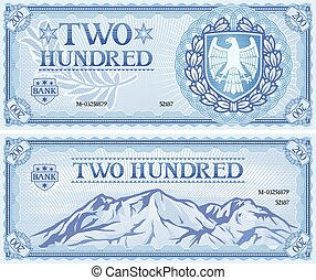 two hundred abstract banknote