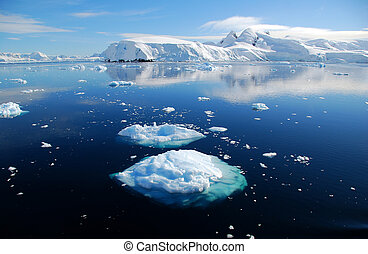 two ice floes