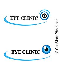 two icons of eye clinic