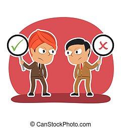 Two indian businessman debate