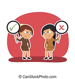 Two indian businesswoman debate
