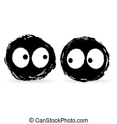 Two ink blot monsters