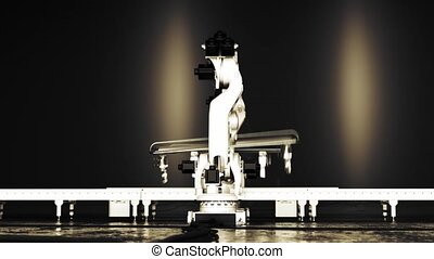 Two Interacting Industrial Robots - This is a high detailed...