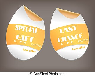 Two isolated labels with text Special Gift, Last Chance
