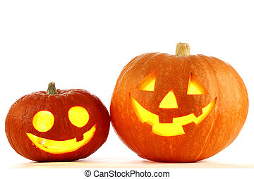 Jack O Lantern halloween pumpkins - Two Jack O Lantern...