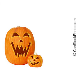 Two Jack O Lantern Pumpkins