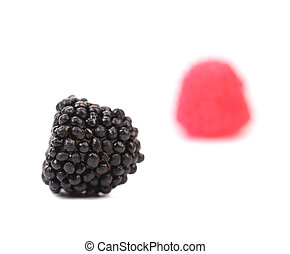Two jelly fruit.