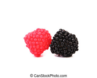 Two jelly fruit