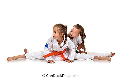 two karate girl