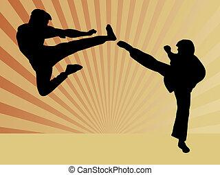 karate - two karate men