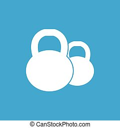 Two kettlebells icon, simple
