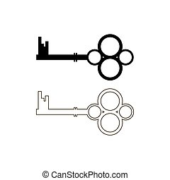 Two keys, Keys sign icon. Unlock tool symbol.