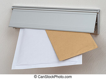 Two letters in a mail slot