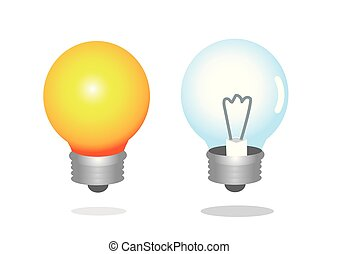 Two light bulbs with one of them light up. Can also use for...