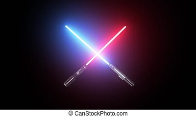 Two lightsaber red and blue Jedi HD