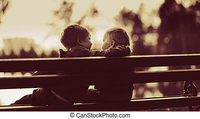 two little boys in a park