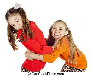 two little girls played