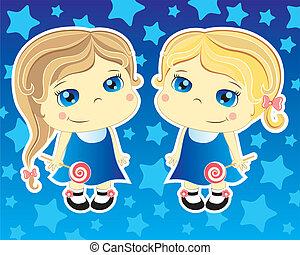 two little girls