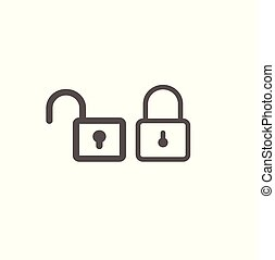 Two locks - a closed castle and an open castle. Safety and...