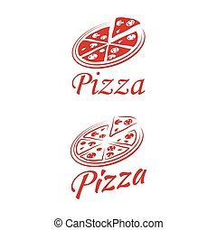 Two logo pizza on a white background.