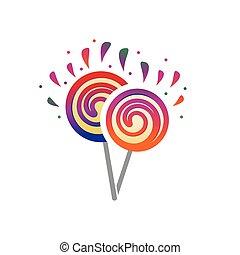 two lollipops illustration