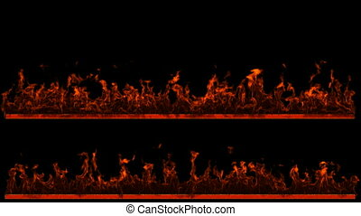 Two loopable Fire and Flame lines. Alpha channel is included