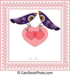 Two love birds.