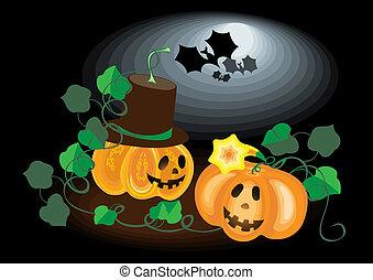 Two lovers pumpkins