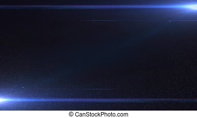 Two luminous beams in blue space on a black background HD 1920x1080
