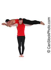 Two male gymnasts